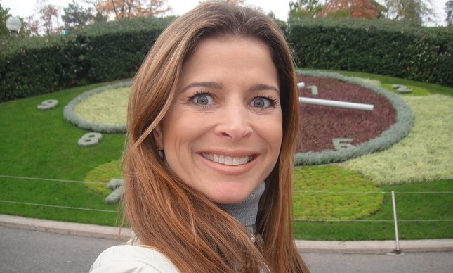 Claudia Cruz em foto na Suíça