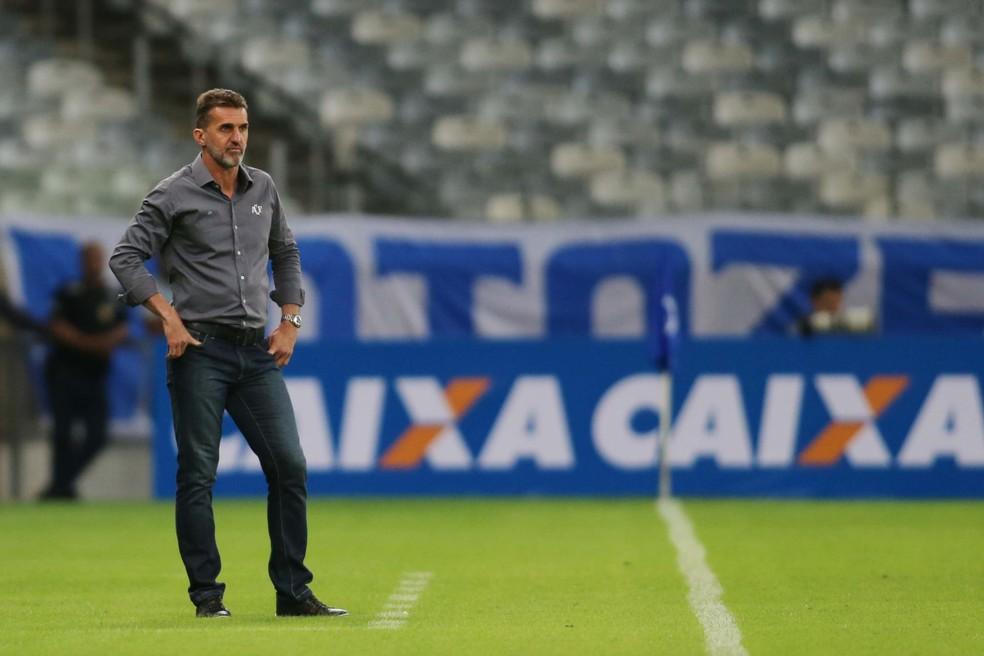 Vagner Mancini saiu de campo contente com a atuação da Chapecoense contra o Cruzeiro (Foto: Cristiane Mattos / Futura Press)