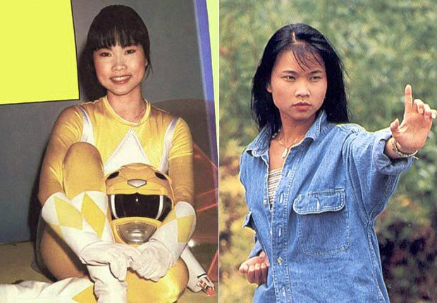 Thuy Trang, a Ranger Amarela, que morreu em 2001 (Foto: Reprodução e Getty Images)