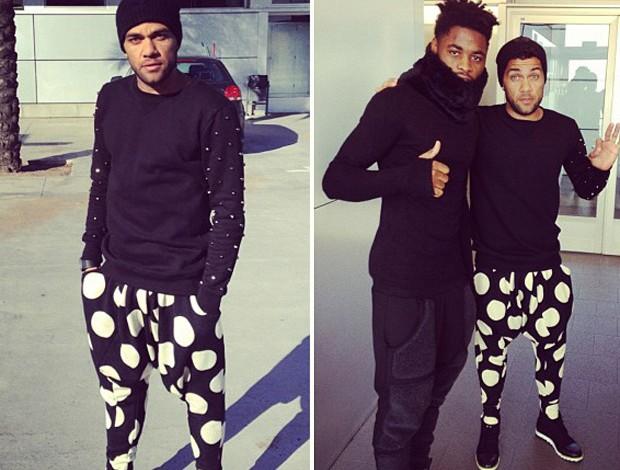 Daniel Alves e Song (Foto: Reprodução/Instagram)