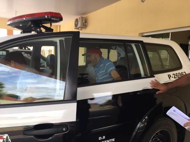 Júlio Omar Rodrigues foi preso nesta sexta-feira (17), em Presidente Bernardes (Foto: Heloise Hamada/G1)