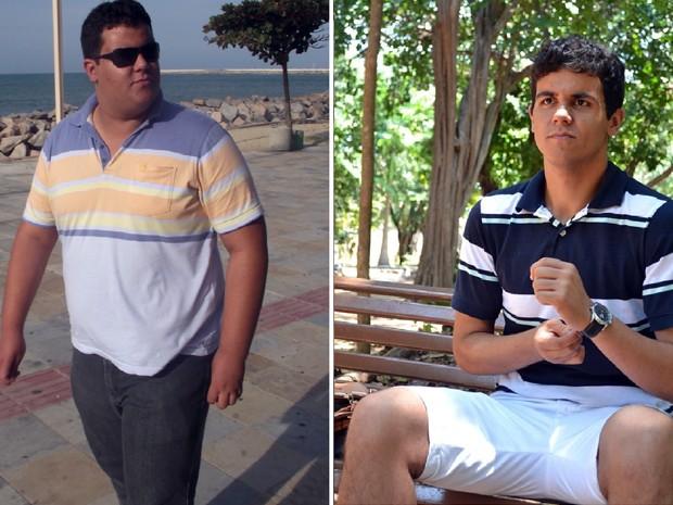 Matheus chegou a pesar 160 quilos. Atualmente está com 88 quilos e mantendo uma vida saudável em Natal (Foto: Arquivo pessoal/Matheus Araújo)