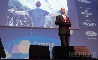 Palestra de Gary Whitehill sobre inovação no mundo dos negócios (Foto: Laura Martins / TechTudo)