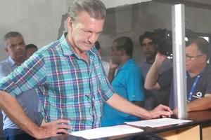 Aron Dresch, candidato FMF, presidente Cuiabá (Foto: Fernanda Arantes/TVCA)