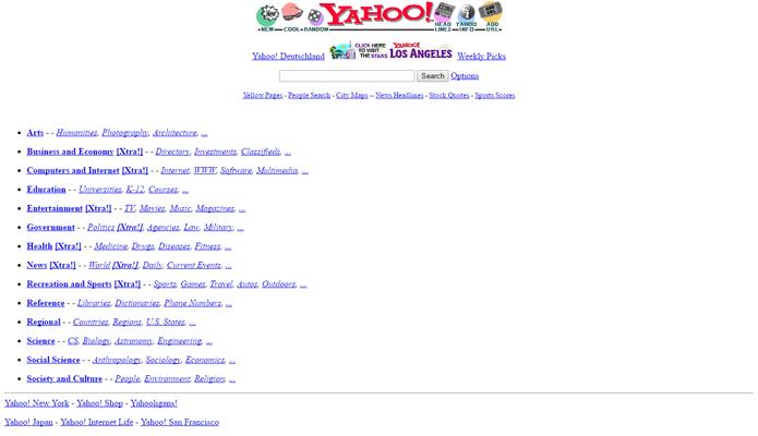 Yahoo continua um dos mecanismos de busca mais usados do mundo e rivaliza com o Google (Foto: Reprodução/Archive.org)