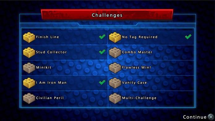 Complete as missões para ganhar tijolos amarelos e desbloquear fases (Foto: Reprodução)