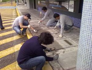 calçada da fama grêmio olímpico prontas (Foto: Divulgação)