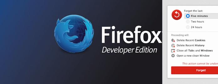 Firefox Developer Edition e o novo botão Forget Button (Foto: Montagem/Edivaldo Brito)
