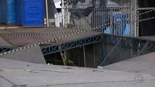 Perícia investiga causa da queda de parte do palco durante show de Luan Santana