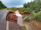 Chuva causa deslizamentos e deixa rodovias interditadas no RS