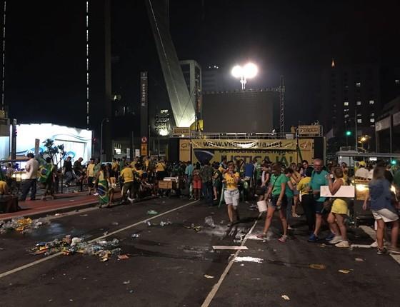 Telão do Vem Pra Rua apagou (Foto: Época)