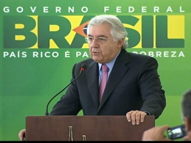 Afif Domingos toma posse como ministro da Micro e Pequena Empresa (Foto: Reprodução Globo News)