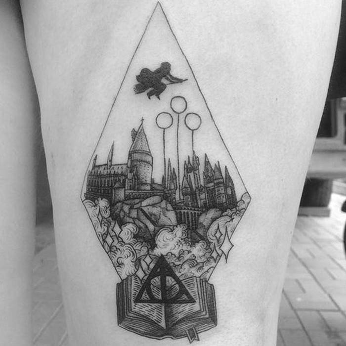 Tatuagem de Harry Potter (Foto: Reprodução/Pinterest/Brandiee Mae)