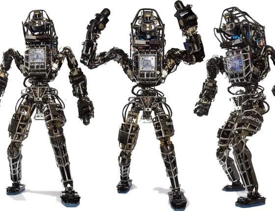 Atlas, robô da Boston Dynamics. Já há quem recrimine o bullying praticado por seres humanos (Foto: Divulgação)
