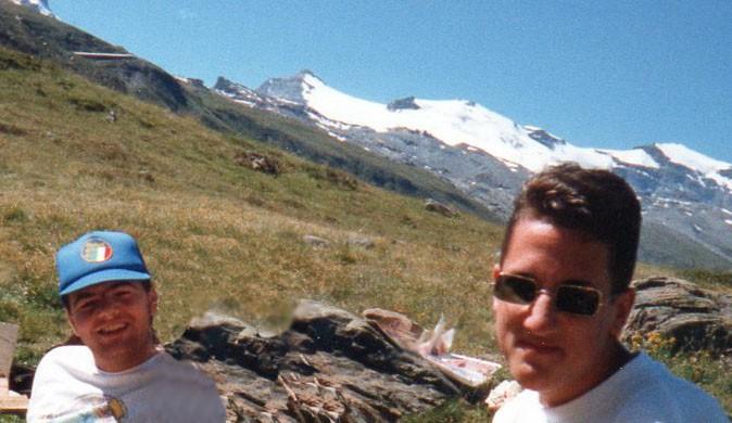 Gianni Infantino e o amigo Adrian Margelist (Foto: Divulgação / Arquivo pessoal)