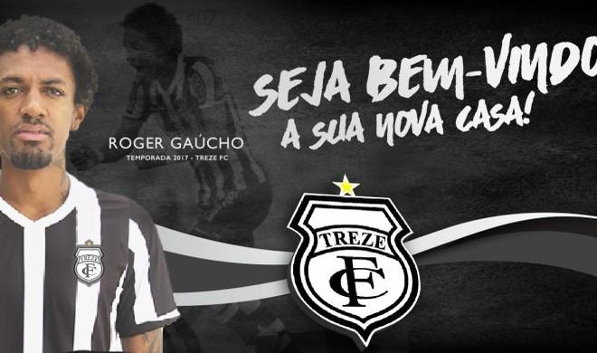 Roger Gaucho no treze (Foto: Divulgação / Treze)
