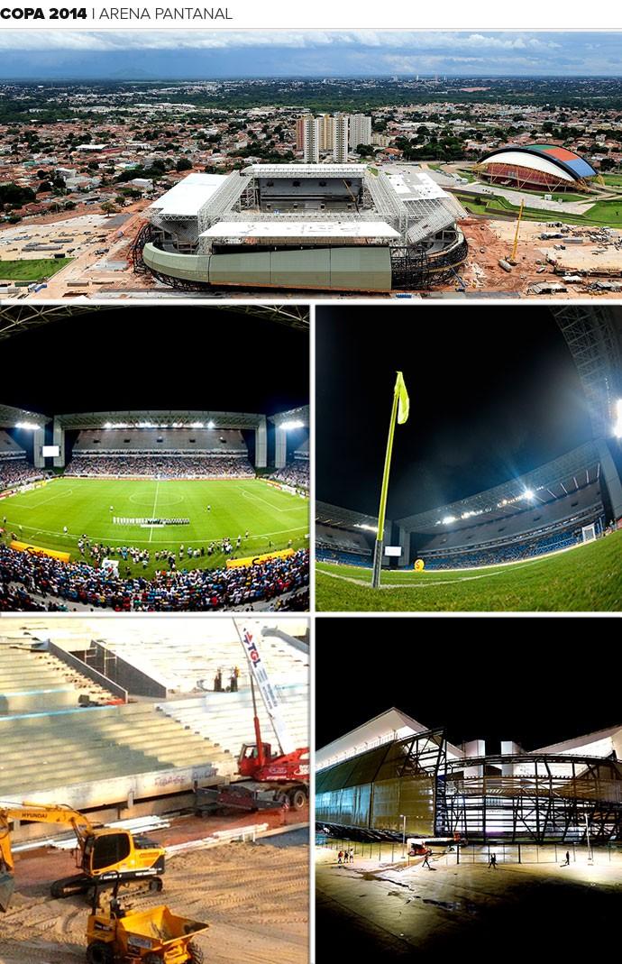 Mosaico estádio Arena Pantanal Copa 2014 (Foto: Editoria de Arte)