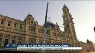 Obra na cobertura do Museu da Língua Portuguesa é concluída
