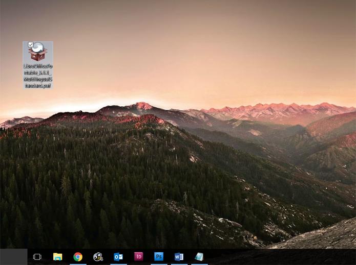 Baixe o instalador da versão portátil do LibreOffice (Foto: Reprodução/Filipe Garrett)