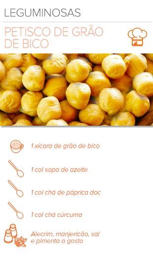 EuAtleta Arte Info receita Petisco de Grão de Bico (Foto: Eu Atleta   Arte Info)