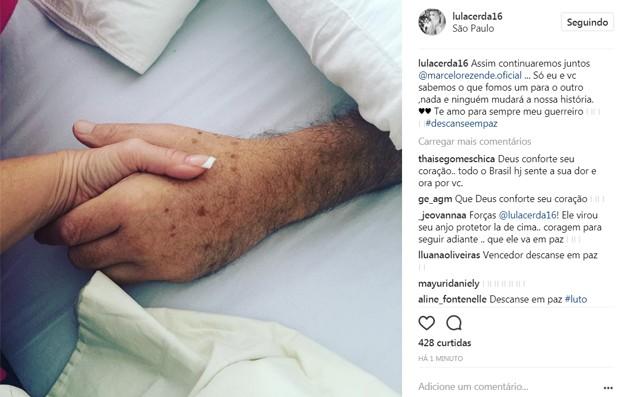 Luciana Lacerda posta foto com Marcelo Rezende (Foto: Reprodução/Instagram)