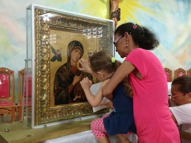 Ícone peregrino visita santuários do estado do Pará e Amapá (Foto: Aritana Aguiar/Pascom Diocese de Santarém )