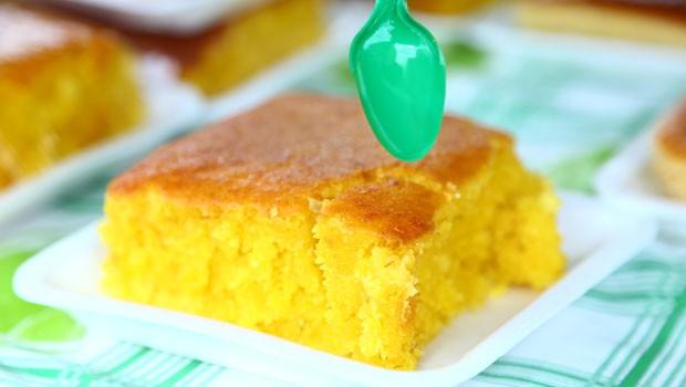 Aprenda a fazer um delicioso bolo de milho para as festas juninas (Foto: Rubem Vital/ RPC)