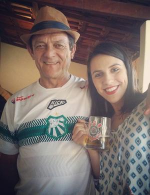 Caldense e Corinthians; torcedor Luiz Alberto Rodrigues; poços de caldas (Foto: Arquivo Pessoal/Luiz Alberto Rodrigues)