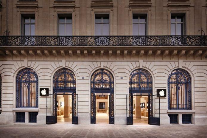 A Apple Store que fica em Paris, na França (Foto: Divulgação/Apple)