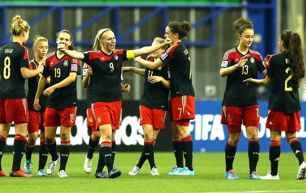 Alemanha comemora vitoria sobre o Brasil mundial feminino sb-20 (Foto: Getty Images)