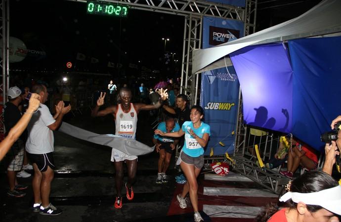 Jair José da Silva, vencedor da Meia Maratona Cabo Branco (Foto: Alberi Pontes/Jornal da Paraíba)