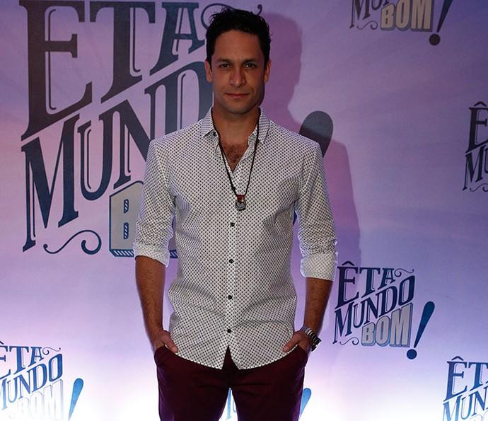 Rainer Cadete na coletiva de 'Êta Mundo Bom!' (Foto: Inácio Moraes/Gshow)