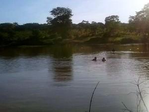 Corpo foi encontrado depois de 30 minutos de buscas (Foto: Corpo de Bombeiros/Divulgação)
