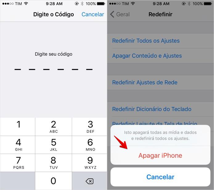 Confirme a senha de bloqueio do celular (Foto: Reprodução/Helito Bijora)