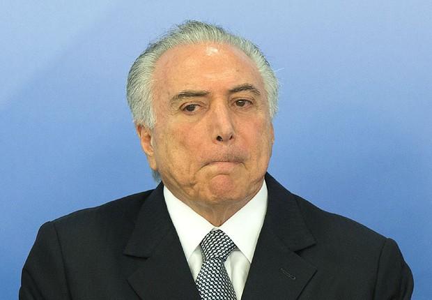 O presidente Michel Temer durante cerimônia de posse de Grace Maria Fernandes Mendonça na AGU (Foto: Lula Marques/Agência PT)