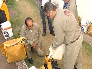 Força tarefa foi enviada para Itaúna (Foto: Reprodução/TV Integração)