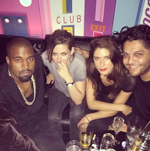 Kanye West e Kristen Stewart (Foto: Reprodução/Instagram)