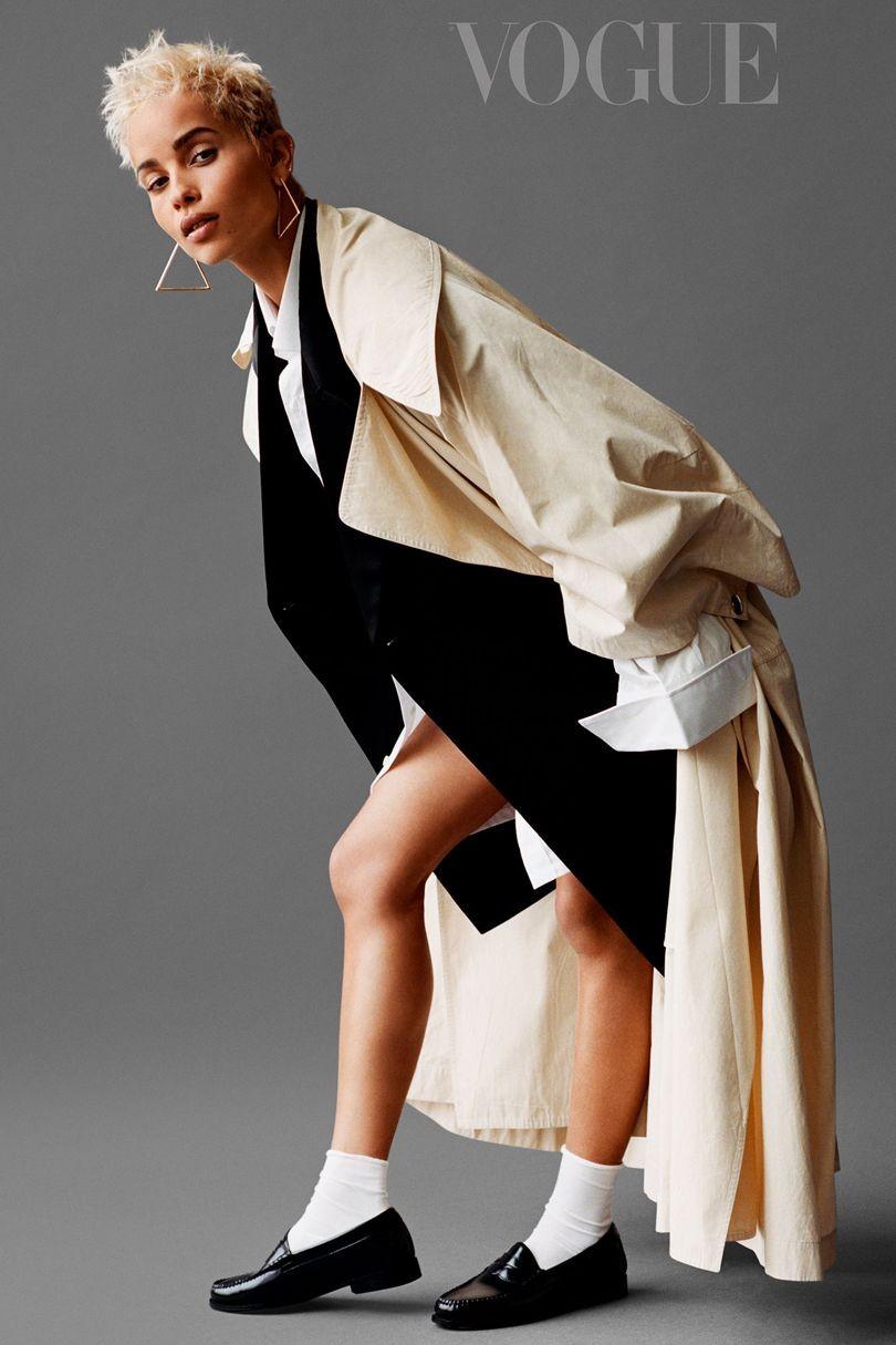 Zoë Kravitz na Vogue Britânica (Foto: Alasdair McLellan)