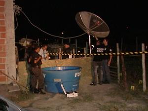 Policial é executado em casa. (Foto: Reprodução/TV Gazeta)