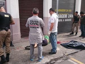 homicídio juiz de fora marechal (Foto: Luiz Felipe Falcão/G1)