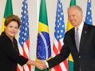 Joe Biden chega ao Palácio do Planalto para reunião com Dilma