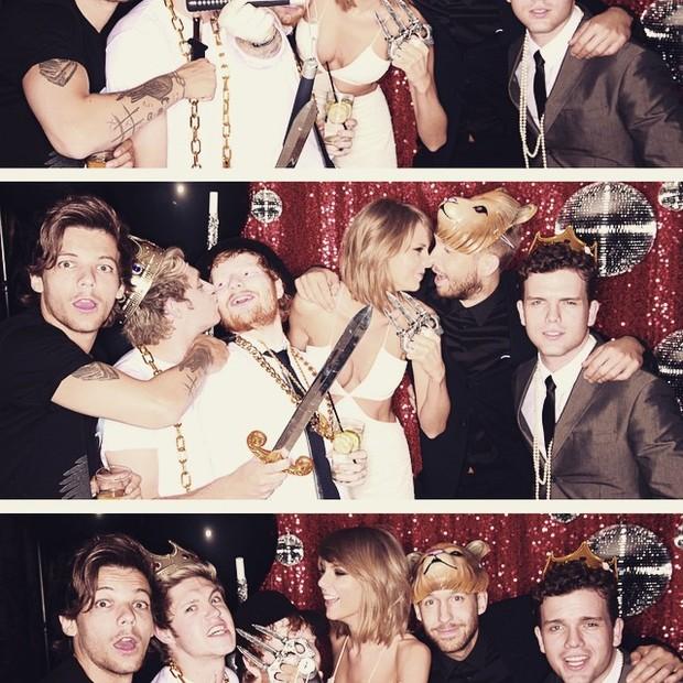 Taylor Swift quase beijando Calvin Harris (Foto: Reprodução/Instagram)