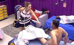 Ana Paula e Laércio: rivais declarados no BBB 16 (Foto: Reprodução/Globo)