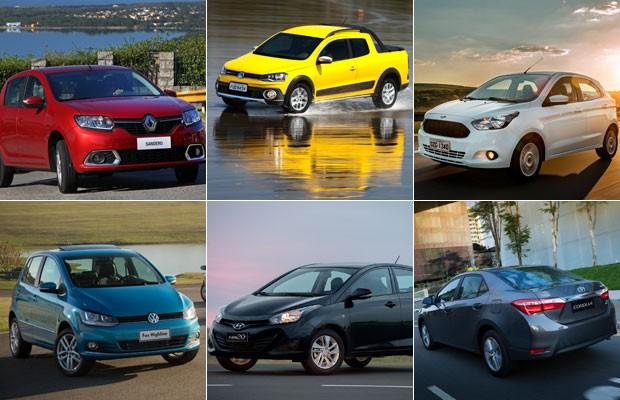 Carros mais vendidos por estado - montagem (Foto: Divulgação)