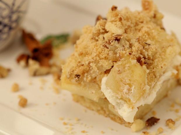 Crumble cake de ma (Foto: GNT/Adalberto Pygmeu)
