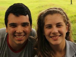 Alana Bottega Lima e Andrei Ferreira respectivamente presidente e vice-presidente do grêmio da Escola Sesc de Ensino Médio (Foto: divulgação)