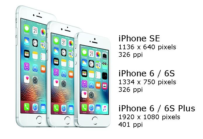 iPhone segue resoluções diferentes que padrões de outras fabricantes (Foto: Arte/Divulgação)