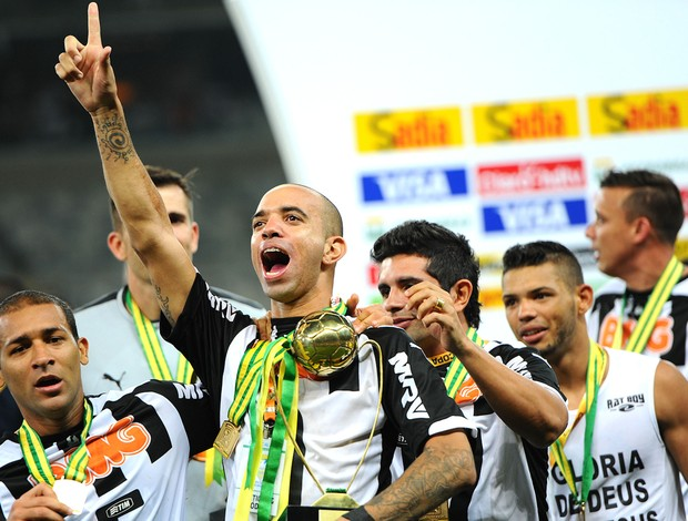 Diego Tardelli Comemoração Atlético-mg copa do Brasil (Foto: Gustavo Andrade)