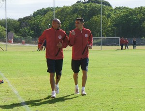 D'Alessandro e Guiñazu treinam no Beira-Rio (Foto: Diego Guichard/GLOBOESPORTE.COM)