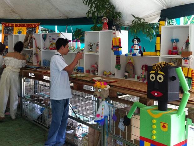 Alunos de escolas do Rio participam de atividades na Quinta da Boa Vista. (Foto: Janaína Carvalho / G1)